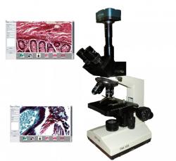 Microscópio Com Câmera Digital 1.3mp
