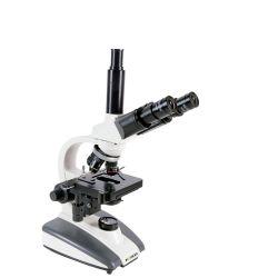 Microscópio Biológico Trinocular Led Aumento de Até 1600 X  C/  Bateria Recarregável  E  Eletricidade