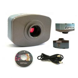 Microscópio Biológico Trinocular com Câmera 1.3MP
