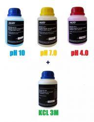Phmetro - Medidor de Ph  de Bolso 0 a 14 pH + Soluções