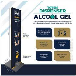 Totem Dispenser Álcool Gel Com Pedal Personalizado